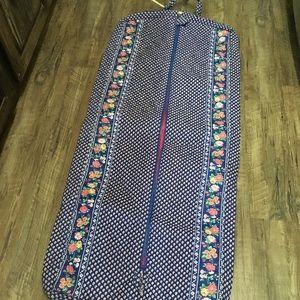 Vera Bradley Travel Garment Bag in a Blue Floral.